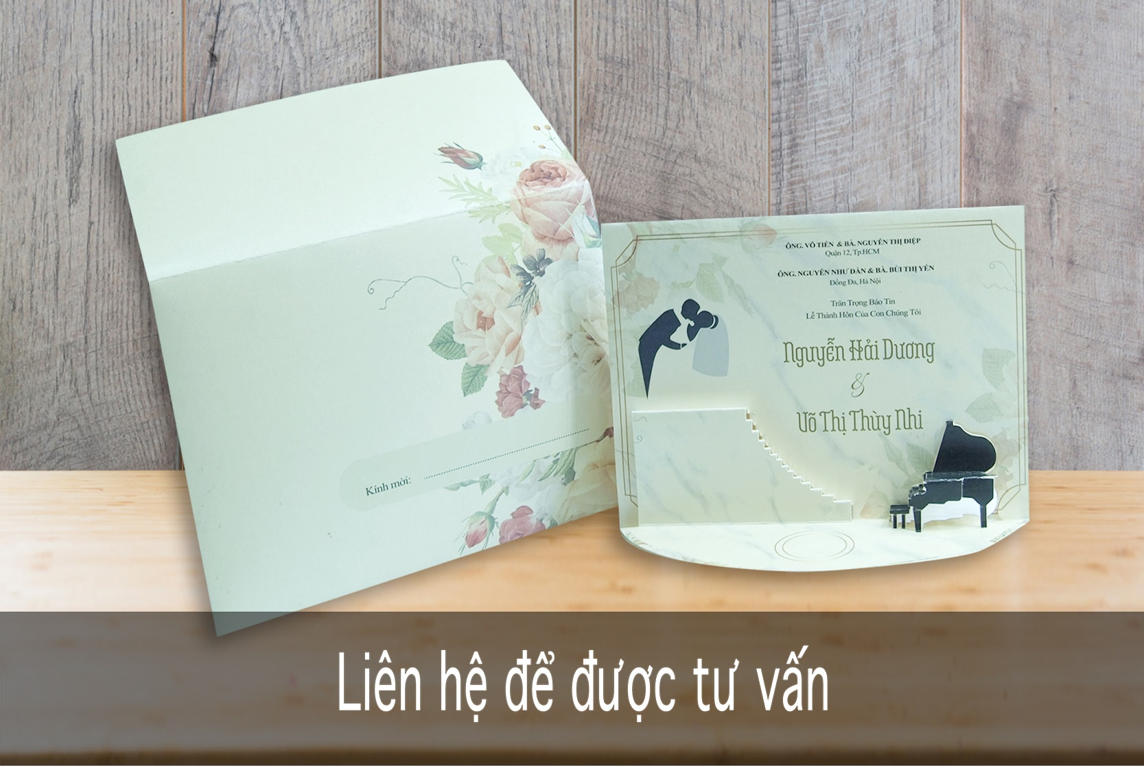 Thiệp TC 3001- 3D Dương cầm