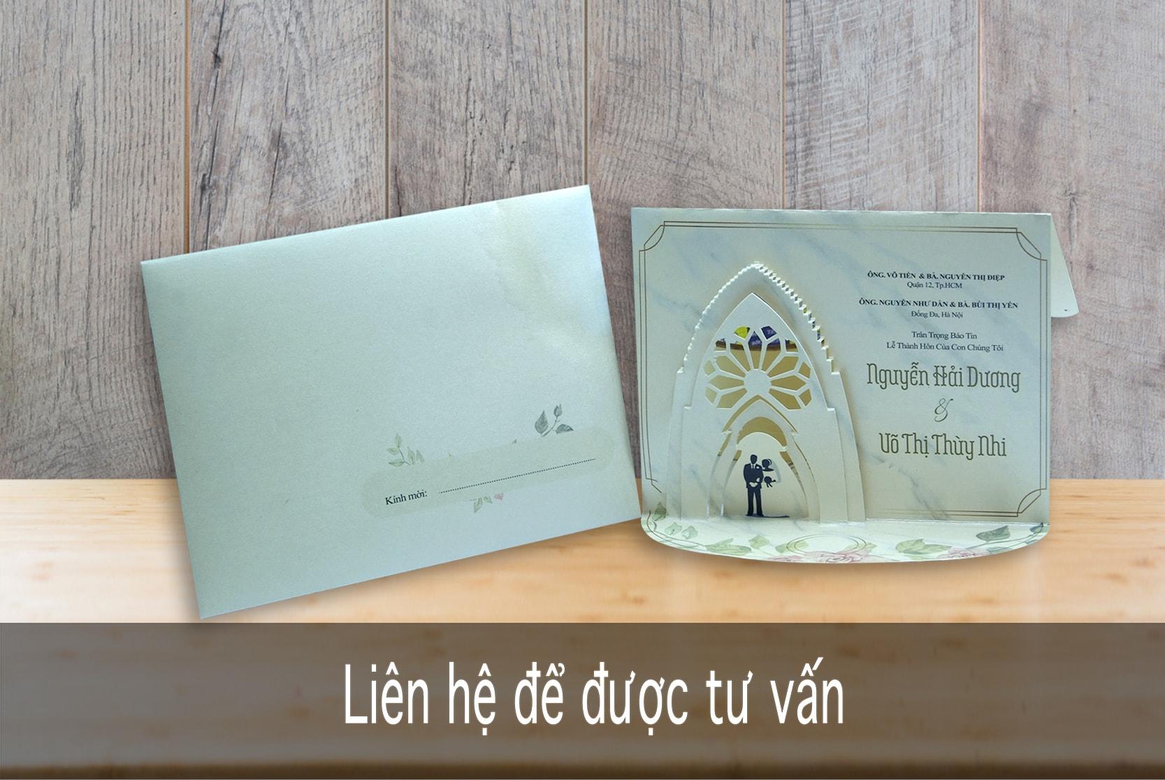 Thiệp TC 3003- 3D Lễ đường