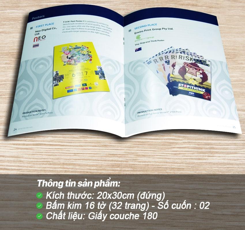 Catalogue Bìa mềm – Bấm kim