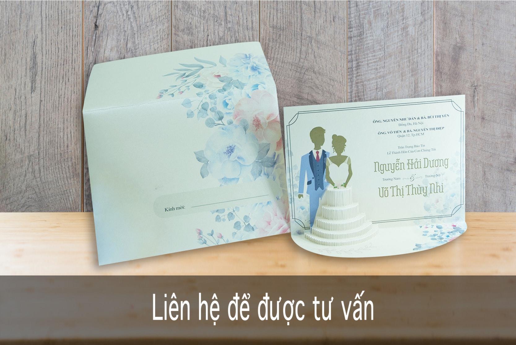 Thiệp TC 3004-3D Bánh cưới